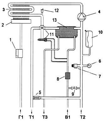 электрическая схема подключения газового котла