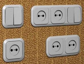 Види розеток і вимикачів