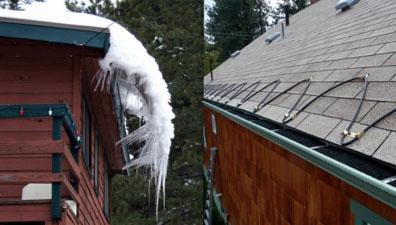 Карниз даху без обладнаної системи сніготанення і з нею