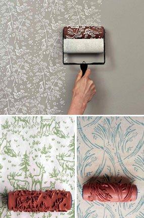 Купить декоративный валик с рисунком для покраски стен гидроизоляция-4 слоя люберит